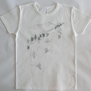 スキーTシャツ ホワイト Mサイズ