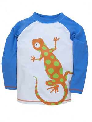SALE Hatley トカゲ Boy'sラッシュガード(SPF50) CrazyLizards RashGuard