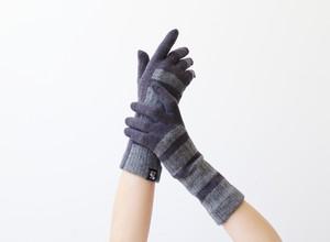 % PERCENT 手袋(FIT:ネイビー・グレー)裏起毛・スマホ対応・ギフト箱付き(男女兼用)