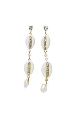 Shell Crystal Earrings