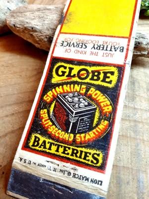 '40s アメリカ ビンテージ コレクション マッチ パッケージカバー バッテリー 機械 工業系 世田谷ベース ガレージ レトロ