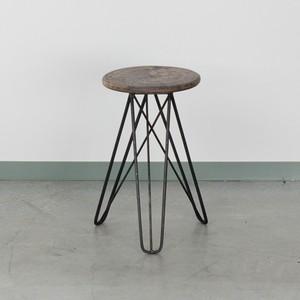 鉄脚のスツール*アイアン丸椅子