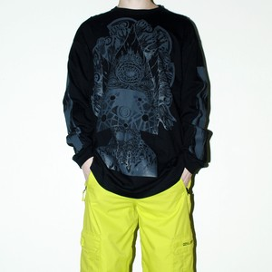 『we are the???』 gore printed L/S Tee