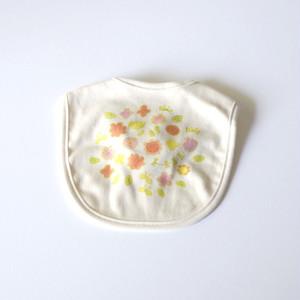 お花畑スタイ(グリーン)● organic cotton 100%【受注生産】