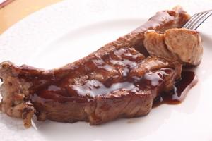スペアリブ黒酢酢豚 ステーキ風