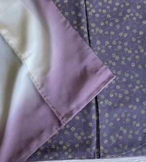 〈鈴模様の小紋〉紫がかったグレー トール オトナ 仕付け付き 送料無料