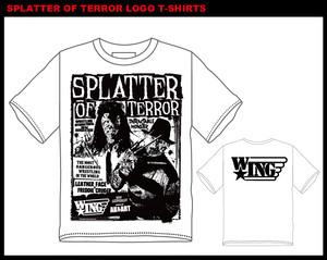 SPLATTER OF TERROR SIZE:M/L/XLレザーフェイス&フレディ・クルーガー・ピクチャーTシャツ