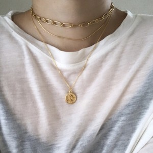 Silver925 zerochain necklace gold 0083