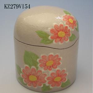 陶器製ミニ骨壷あんのん(KZ279VI54)マーガレット