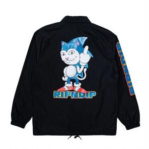 RIPNDIP - Nermhog Coaches Jacket (Black)