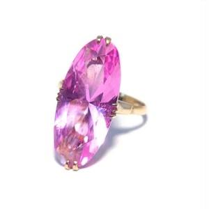 Vintage Japanese Ring - K18 Pink Stone #11