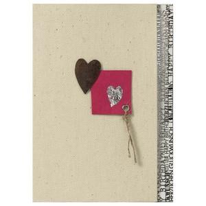 キャンバスのカード ハート  #176