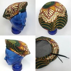 アフリカンプリントベレー帽 04