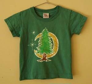 Tree & Moon Batik Kids Tee  (100)