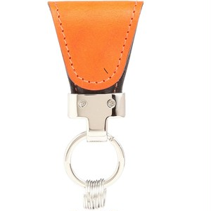 [Vintage Revival Productions] key clip oil leather キーケース 日本製 オレンジ