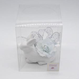 花うさぎ ホワイトブルー