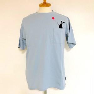 Balloon Shabby Pocket T-shirts Sax