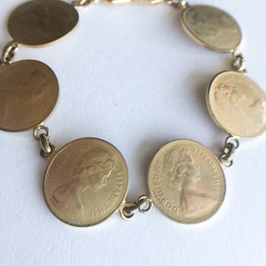 gold coin bracelet[h-119] ヴィンテージブレスレット