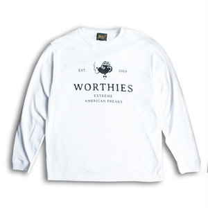 WORTHIES SIGN L/S TEE WHITE