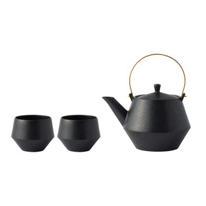 Frustum土瓶&煎茶 黒釉 [SET]