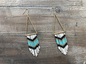 Indian triangle beads earrings