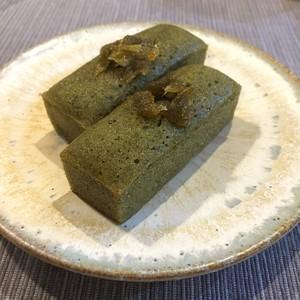 グルテンフリー:有機抹茶&金時豆のスティックケーキ