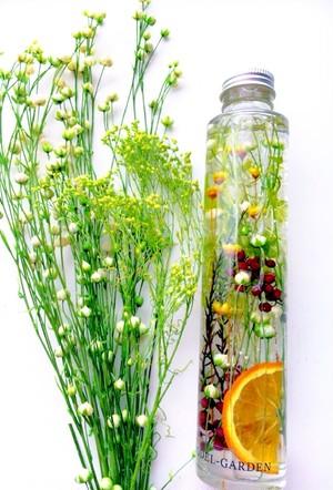 ハーバリウム(L) リンフラワーと黄色い小花