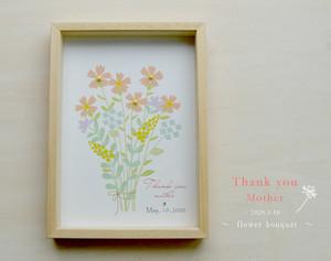 母の日サンクスフラワーボックス(ブーケのイラスト)母の日 ギフト プレゼント お祝い