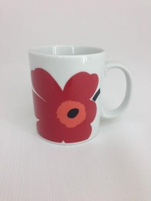 マリメッコ(marimekko)マグカップ 赤 在庫品