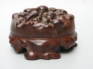 花梨木細密彫 古仏具 熏香炉
