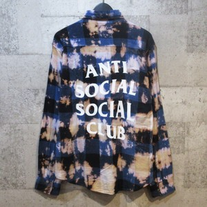 ANTI SOCIAL SOCIAL CLUB 18SS PSY Blue Flannel チェックシャツ