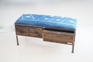 品番UAI2-117  2drawer ottoman[nerrow/ African indigo]