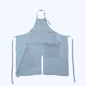 Packable Apron / RED CABBAGE(french linen)