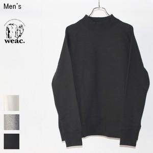 weac. 度詰め裏毛モックネックスウェット MOKKUN (BLACK)