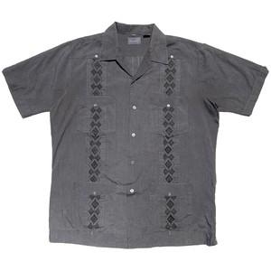USED Guayabera cuba shirts - charcoal gray