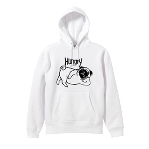 [PREORDER]  DWS×#HHC / HUNGRY PUG HOODIE [WHITE]