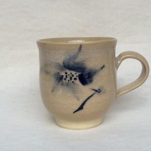 【雪舟焼】マグカップ/花枝