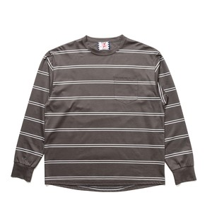 【SON OF THE CHEESE】REF Border Tee -GREY-