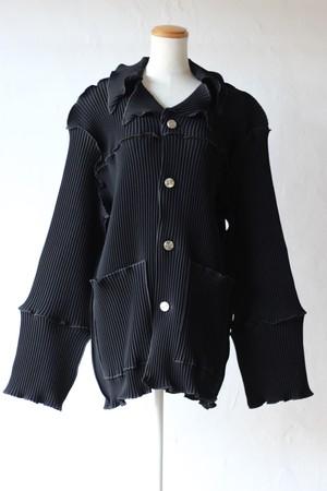 【kotohayokozawa】pleats coat-black
