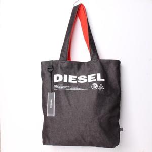 DIESEL ディーゼル トートバック デニム レッド ブラック  ロゴ [全国送料無料]r017446