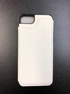 iPhone7/8 ホワイトレザー調ケース