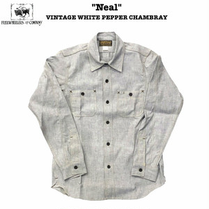 """""""Neal"""" ニール VINTAGE WHITE PEPPER CHAMBRAY FREEWHEELERS/フリーホイーラーズ UNION SPECIAL OVERALLS Lot 1913002 シャンブレー / シャツ / ワーク / 定番"""