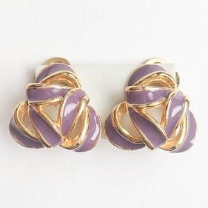 purple & gold design earring[e-855]