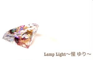 オルゴナイト ダイヤモンド型 『花と月』金箔入り