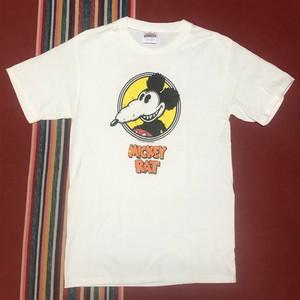 2000s ヴィンテージ ミッキーラット Tシャツ Hanes ヘインズ Robt Armstrong 2001 Mickey Rat ローブローアート Rアームストロング(白,S)