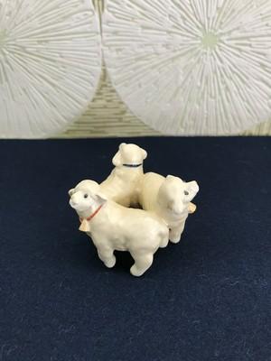 蓋置「三ツ羊」今岡三四郎・作