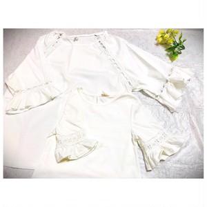 ❤︎リンクコーデ❤︎刺繍デザイントップスセット❤︎