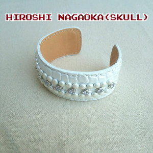 【SKULLデザイナー】新品/ヒロシナガオカHIROSHI NAGAOKA/デッドストック/レザー/バングル/