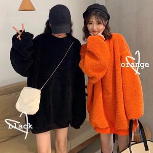 【トップス】韓国系無地ファッション合わせやすいパーカー25107821