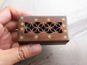 アンティーク雑貨*小さな木箱*星の彫刻*雑貨屋さんディスプレー